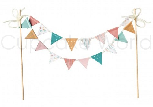 ROBERT GORDON CRAFTY BAKER PAPER CAKE BUNTING FLAGS 20cm