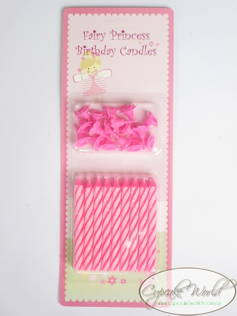 ROBERT GORDON PINK FAIRY PRINCESS PARTY CANDLES x 18