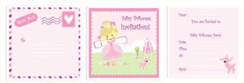 ROBERT GORDON PINK FAIRY PRINCESS PARTY INVITATION CARD