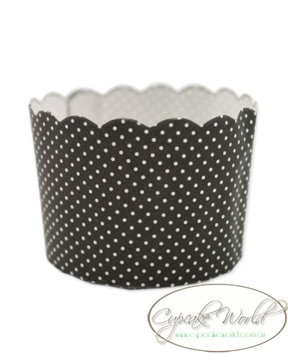ROBERT GORDON BLACK DOTS MUFFIN / CUPCAKE CASES X 50