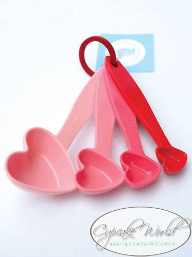 SWEET!! ROBERT GORDON PINK HEARTS MEASURING SPOONS SET
