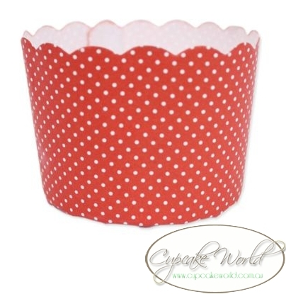 ROBERT GORDON RED DOTS MUFFIN / CUPCAKE CASES X 50