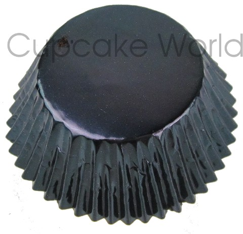 25PCS SEXY METALLIC BLACK FOIL MUFFIN CUPCAKE CASES PATTY PANS
