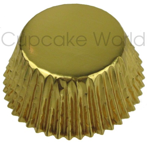 25PCS METALLIC GOLD SHINY FOIL MUFFIN CUPCAKE CASES PATTY PANS