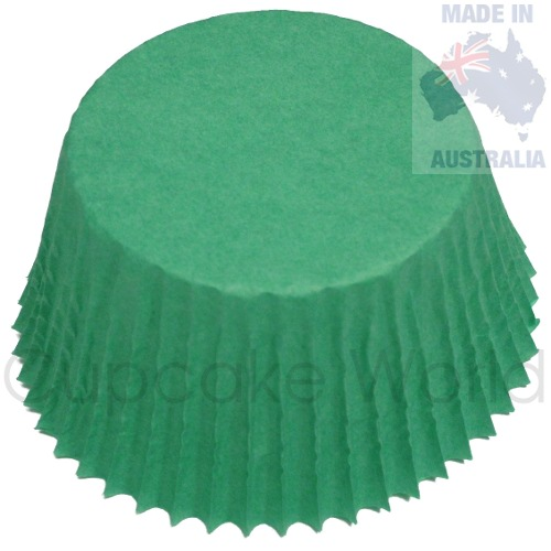 50PC GRASSY GREEN PAPER MUFFIN / CUPCAKE CASES PATTY CUPS