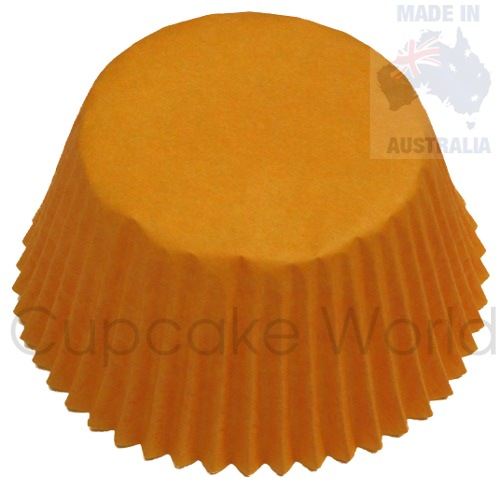 500PC BRIGHT ORANGE PAPER MUFFIN / CUPCAKE CASES PATTY CUPS