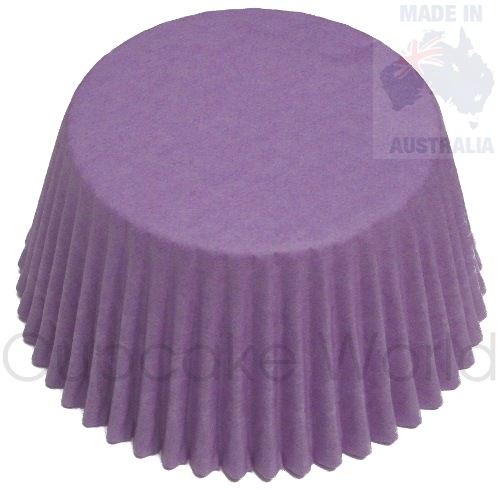 500PC ROMANTIC PURPLE PAPER MUFFIN / CUPCAKE CASES PATTY CUPS