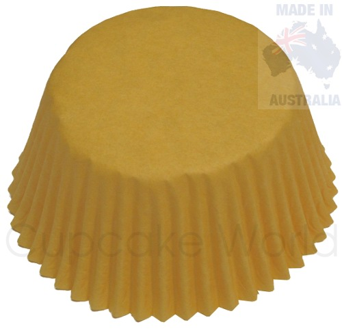 50PC SUNNY YELLOW PAPER MUFFIN / CUPCAKE CASES PATTY CUPS