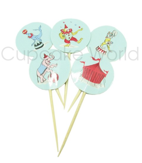 ROBERT GORDON MY LITTLE CIRCUS CUPCAKE TOPPERS 24pc
