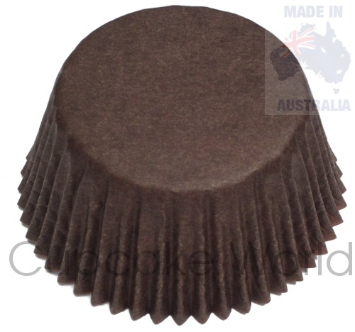 500PC CAFE CHOCOLATE BROWN PAPER MUFFIN PATTY PANS