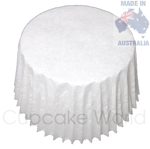 500PC CLASSIC WHITE PATTY PAN PAPER MUFFIN CUPCAKE CASES