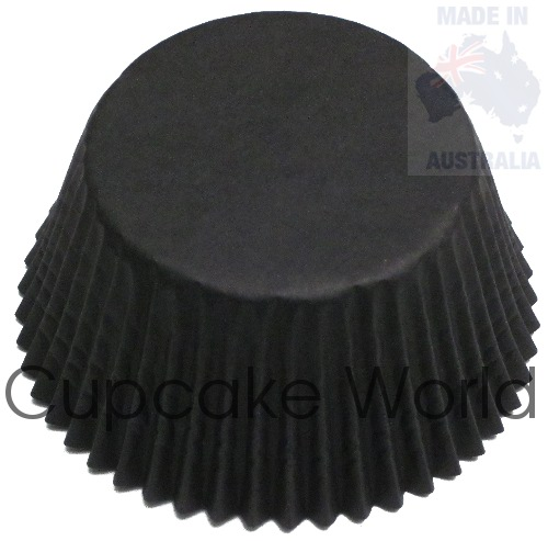 500PC SOPHISTICATED BLACK PAPER MUFFIN / CUPCAKE CASES