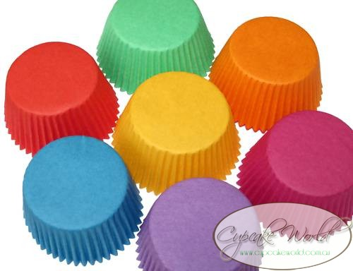RAINBOW 7 PACK PAPER MUFFIN / CUPCAKE CASES CUPS X 140
